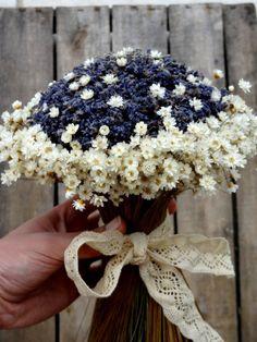 Romantic Bridal Bouquet With Lavender And Glixia - Weddings - Lavender Bouquet