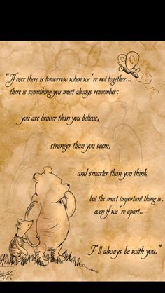 winnie the pooh Friendship quotes Quotes To Live By, Me Quotes, Boxer Quotes, Happy Quotes, Winnie The Pooh Quotes, Piglet Quotes, Pooh Bear, Disney Quotes, Beautiful Words