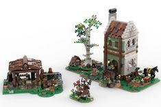 Lego Village, Lego Army, Carpenter Work, Lego Castle, Lego Projects, House Built, Cool Lego, Lego Creations, Legos