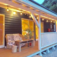 mu-g-uさんの、マリンランプ,ストリングライト,WOODPRO,田舎暮らし,フォロワーさま1000人♡,ラウンドビーチタオル,子猫と暮らす,カリフォルニア工務店,平屋,カリフォルニアスタイル,RC大分支部,サーファーズハウス,やしの木を植えたい,古材,カバードポーチ,玄関/入り口,のお部屋写真