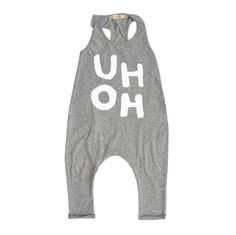 Heather Grey 'UH OH' Romper