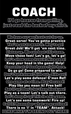 For The Volleyball Coach!