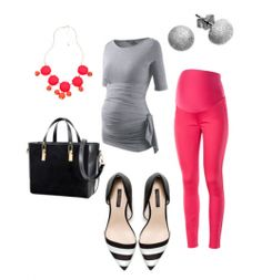 Spring Maternity Fashion Trends 2013 - This Lil Piglet - Watermelon Grey Spring Maternity Fashion. Not the pant. But love the top - Spring Maternity, Cute Maternity Outfits, Stylish Maternity, Pregnancy Outfits, Maternity Wear, Maternity Fashion, Maternity Style, Pregnancy Fashion, Maternity Shirts