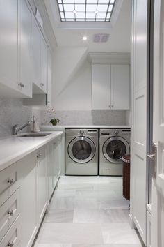 Attractive 17 L Shaped Laundry Designs For Better Use Of The Space U0026 Functionality Part 16