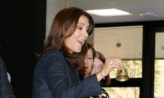 Crown Princess Mary, 44, looked more similar to the British royal than ever as she attended the official opening of the Frederiksbjerg school, Aarhus, in Denmark, over the weekend.
