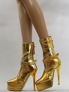 Sherry Fashion Golden Shoes Boots for Tyler Sybarites Doll 19 TB 3 | eBay