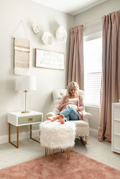Outstanding baby nursery tips are offered on our web pages. Have a look and you wont be sorry you did. Baby Bedroom, Baby Room Decor, Nursery Room, Nursery Grey, Boy Nursery Rugs, Pink Curtains Nursery, Simple Baby Nursery, Ikea Baby Nursery, Pink Gold Nursery