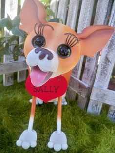 Personalized Chihuahua Dog Garden Planter with Fresh Greens Arrangements- Garden Decor for the Dog Lover- Valentines Day Gift on Etsy, $45.00