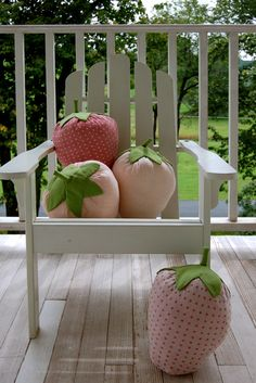 Strawberry Pillows tutorial by the Purl bee.