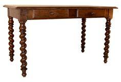 19th-C. French Oak Writing Desk