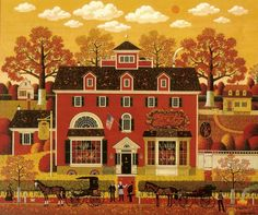 Charles Wysocki art ~ puzzles Did so many of these on those rainy nights in Washington State.