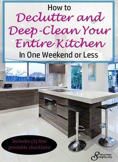 deep clean kitchen | declutter kitchen | home organization | clean house