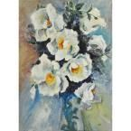 """40 in. H x 30 in. W """"Forget Me Not"""" by Cris Unframed Canvas Wall Art"""