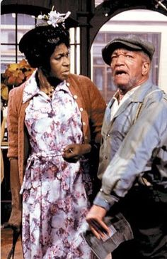 Classic TV show Sanford and Son Fred Sanford and Esther Anderson - Redd Foxx and LaWanda Page.
