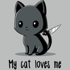 My Cat Loves Me - [other] stuff - Cats Anime Animals, Funny Animals, Cute Animals, Cute Animal Drawings, Kawaii Drawings, I Love Cats, Cute Cats, Gato Anime, Cute Animal Quotes