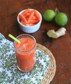 Carrot, ginger and lime juice