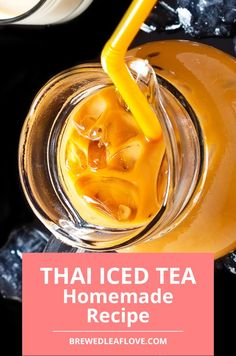 If you want to make thai iced tea authentic just like you get in a thai restaurant, you can DIY your own at home with this delicious thai iced tea recipe. Here's how to make authentic thai iced tea just like you get when you're at a thai restaurant. Thai Tea Recipes, Milk Tea Recipes, Sweet Tea Recipes, Iced Tea Recipes, Dinner Recipes, Yummy Drinks, Healthy Drinks, Herbal Iced Tea Recipe, Easy Recipe To Make At Home