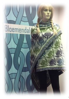 *15142* FAIR ISLE shawl gemaakt door één van onze klanten www.bloemendalwol.nl