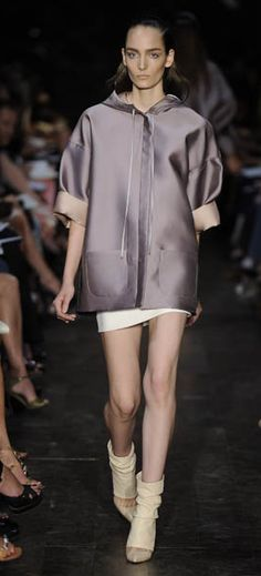 Sport Luxe - High Shine Materials.  Victoria Beckham - Shows that sporty separates can be done well and minimal. Easy to wear with soft shorts or long blouse dresses.