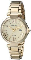 Seiko Women's SUT176 Analog Display Japanese Quartz Gold Watch