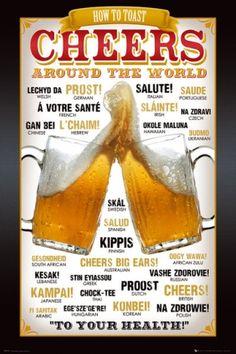 Cheers Around The World - plakat - 61x91,5 cm  Gdzie kupić? www.eplakaty.pl