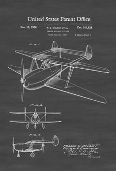 Two Engine Biplane Patent U2013 Vintage Airplane, Airplane Blueprint, Airplane  Art, Pilot Gift, Aircraft Decor, Airplane Poster, Biplane Patent
