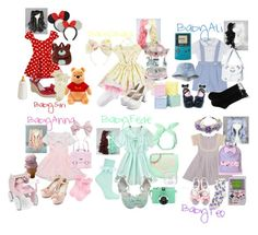 """""""Baby Friends"""" by allisjess ❤ liked on Polyvore featuring Dollhouse, Florence Eiseman, Sourpuss, Wilton, HOT SOX, Topshop, Monsoon, Love Moschino, Disney and Lomography"""