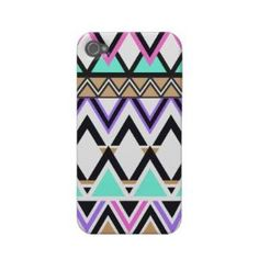 Pastel Tribal Pattern 2 Iphone 4 Case-mate Cases from Zazzle.com