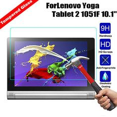 Tempered Glass Screen Protector Cover Guard For Lenovo Yoga Tablet 2 1051F 10.1""