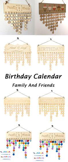 home decor ideas:Family And Friends Birthday Calendar