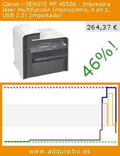 Canon i-SENSYS MF 4550d - Impresora láser multifunción (monocromo, 4 en 1, USB 2.0) (importado) (Ordenadores personales). Baja 46%! Precio actual 264,37 €, el precio anterior fue de 486,23 €. http://www.adquisitio.es/canon/i-sensys-mf-4550d