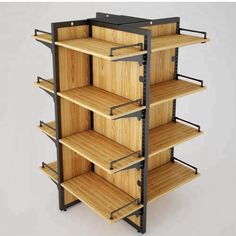 Discover recipes, home ideas, style inspiration and other ideas to try. Supermarket Design, Supermarket Shelves, Retail Store Design, Shelving Design, Bookshelf Design, Bookshelf Storage, Display Shelves, Marketing Mediante Afiliadas, Mini Store