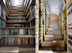 totally awesome bookshelf/staircase!!