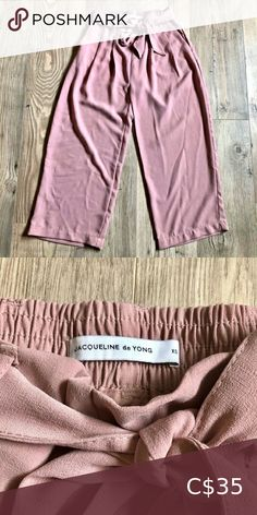 """BNWOT Pale Pink Cropped High-waisted Culottes Tie Belt Kapris Length • Size XS, fits XS/S • Brand: Jacqueline de YONG Inseam: about 20"""" Perfect, like-new condition, never worn! Soft, comfy pants that can be dressed up or down Pants & Jumpsuits Capris White Capris, Gym Leggings, Capri Leggings, Space Socks, High Waisted Culottes, Womens Capri Pants, Comfy Pants, North Face Women"""