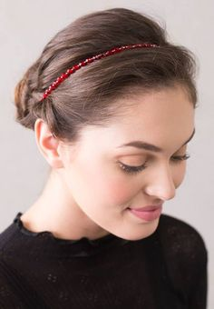 Valentine's Day is coming - this would be an awesome hair accessory for then. Scarlet Hairband, limited release. http://lillarose.biz/rrobinson