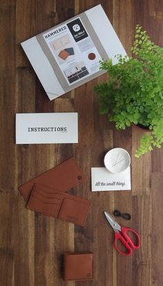 DIY leather wallet - Kit from Hammered Leatherworks