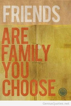Family friends quote card