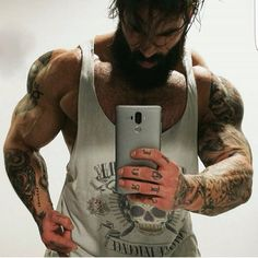 beard with muscles makes a great combination ❤️