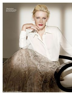 high-quality white shirt, simple and elegant Cate Blanchett Hot, Divas, Iconic Women, Celebs, Celebrities, Style Icons, Blond, Celebrity Style, Fashion Photography