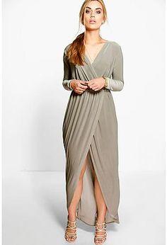 Plus Zoe Slinky Wrap Front Maxi Dress