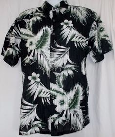 Sunshine Island Hawaiian, XL Tropical Button Up 100% Cotton Shirt ribbed NWT #SunshineIsland #Hawaiian