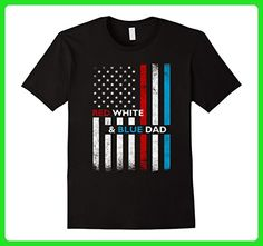 Mens Patriotic Dad Red White Blue USA Flag Father's Day T-Shirt XL Black - Holiday and seasonal shirts (*Amazon Partner-Link)