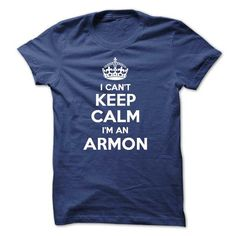 cool Keep Calm And Let ARMON Handle It Hoodies T shirt
