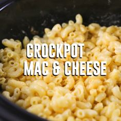 Crockpot Mac and Cheese {Video} Mac and cheese in the crockpot is the way to go! Throw a few ingredients in your slow cooker and let it do the work for you. This recipe is great when you're preparing multiple recipes. Crockpot Mac N Cheese Recipe, Mac Cheese Recipes, Pasta In The Crockpot, Easy Mac And Cheese Recipe Velveeta, Crockpot Party Food, Macaroni And Cheese, Pasta Cheese, Mac Recipe, Cheese Fruit