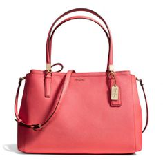 The Madison Christie Carryall In Saffiano Leather from Coach