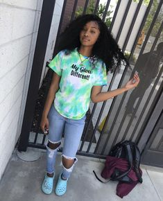 Image may contain: one or more people and shoes Swag Outfits For Girls, Cute Swag Outfits, Teenage Girl Outfits, Cute Outfits For School, Chill Outfits, Teen Fashion Outfits, Dope Outfits, Cute Summer Outfits, Trendy Outfits