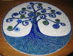 tree of life/tempered glass mosaic