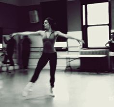 """mariatallchief: """" NYCB's Tiler Peck in rehearsal for The Enemy Within (x) """""""
