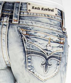 ༻✿༺ ❤️ ༻✿༺ Rock Revival Jen Skinny Stretch Jean ༻✿༺ ❤️ ༻✿༺