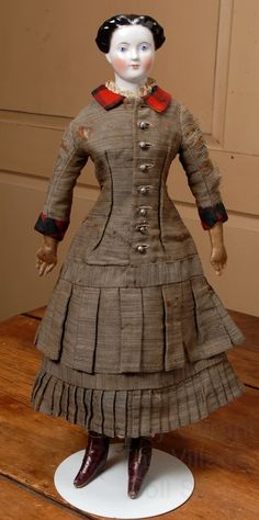 """Fantastic 22"""" German China Lady Doll from beckysbackroom on Ruby Lane"""